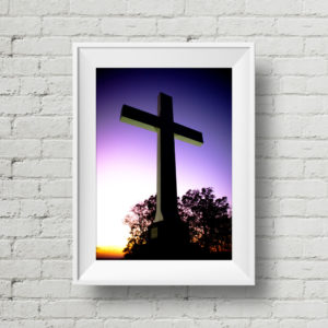 Tennessee Photography – Sewanee Cross: Purple Sunset